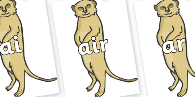 Phase 3 Phonemes on Meerkats - Phonemes, phoneme, Phase 3, Phase three, Foundation, Literacy, Letters and Sounds, DfES, display