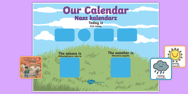 Daily Weather Calendar Weather Chart Long Date Format Polish Translation