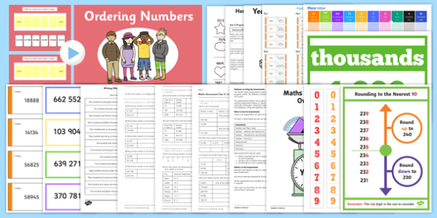 Top 10 Year 5 Place Value Resource Pack