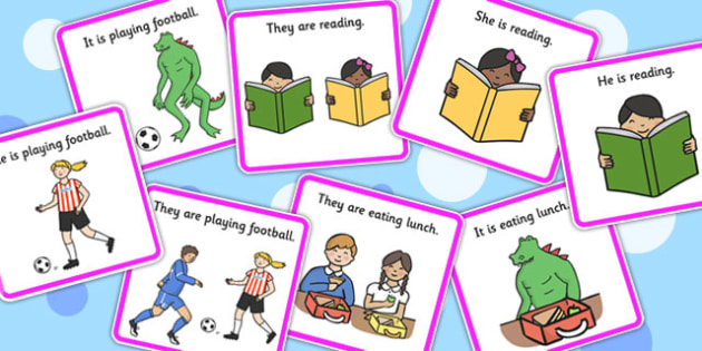 He, She, They And It Pronoun Picture Description Cards - pronouns, SEN