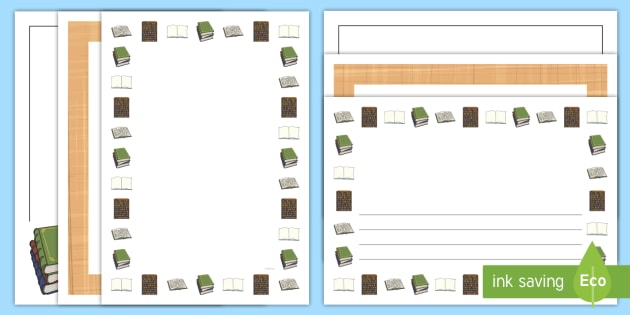 History Page Borders - history, writing template, borders, write
