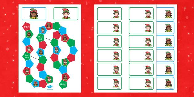 Elf Themed Editable Board Game - board game, elf, christmas, game