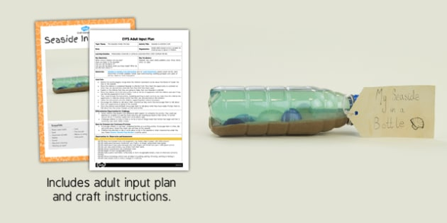 EYFS Seaside in a Bottle Craft Adult Input Plan and Resource Pack - craft
