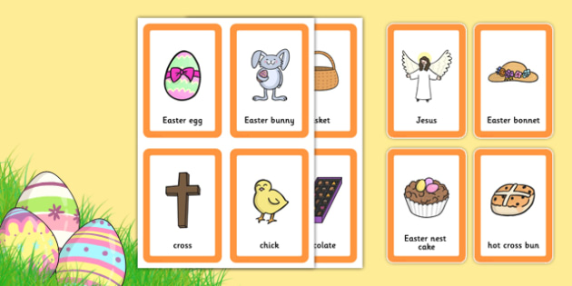 Easter Pairs Matching Game - games, match, activity, activities