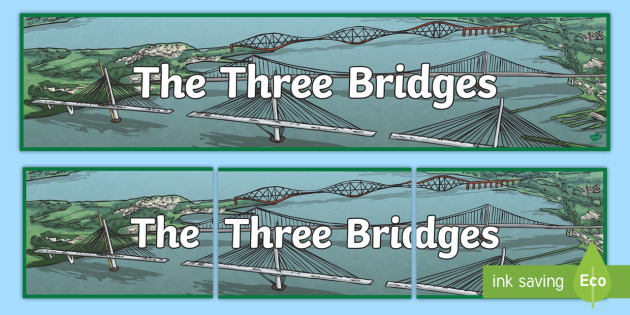 CfE The Three Bridges Display Banner - Scottish Landmarks, CfE,Bridges, Tourist attractions, STEM, Engineering, technology, design, Queensf