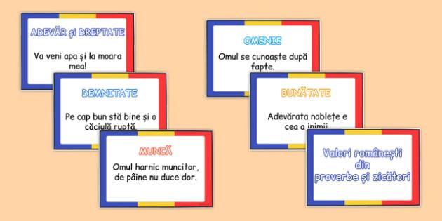 Valori romanesti din proverbe si zicatori -  ziua nationala
