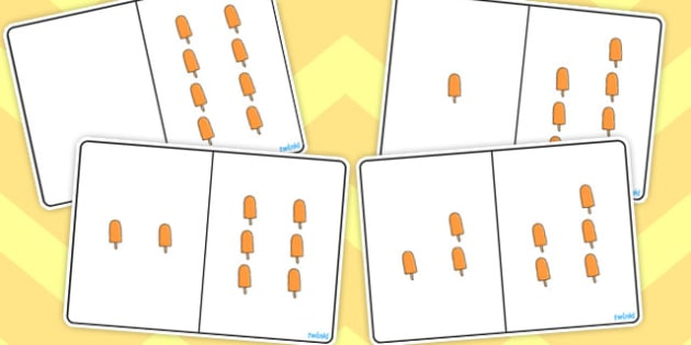 Ice Lolly Counting Number Bonds to 8 - numbers, counting, numeracy