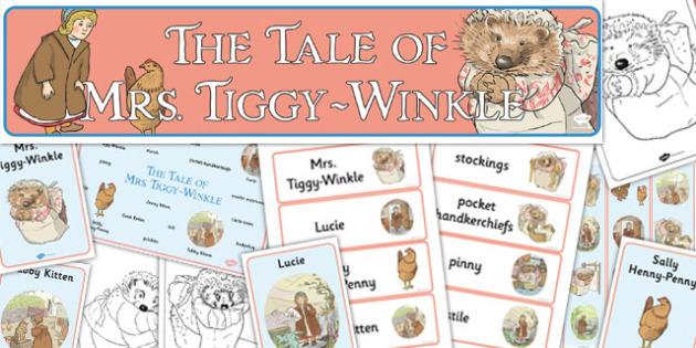 The Tale of Mrs Tiggy Winkle Story Sack - mrs tiggy winkle, story