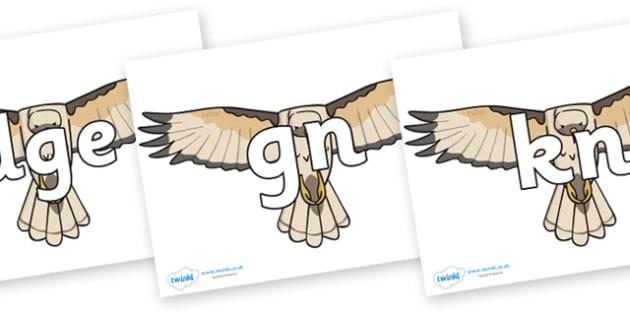 Silent Letters on Hawks - Silent Letters, silent letter, letter blend, consonant, consonants, digraph, trigraph, A-Z letters, literacy, alphabet, letters, alternative sounds