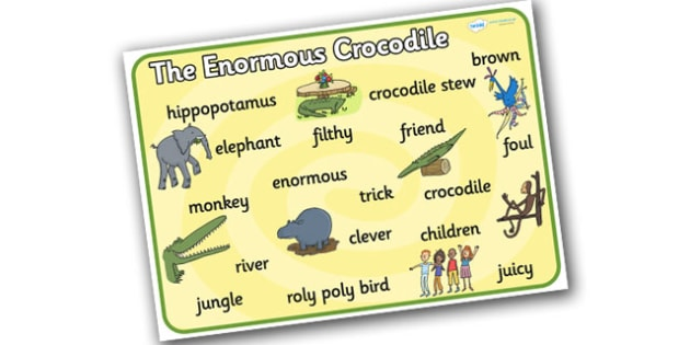 Word Mat to Support Teaching on The Enormous Crocodile - the enormous crocodile, the enormous crocodile word mat, word mats, the enormous crocodile keywords