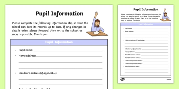 ROI Pupil Information Form Checklist-Irish