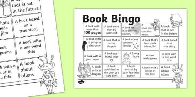 Book Bingo Activity Sheet - reading, literacy, game, library, ks2, interaction, stories, , worksheet