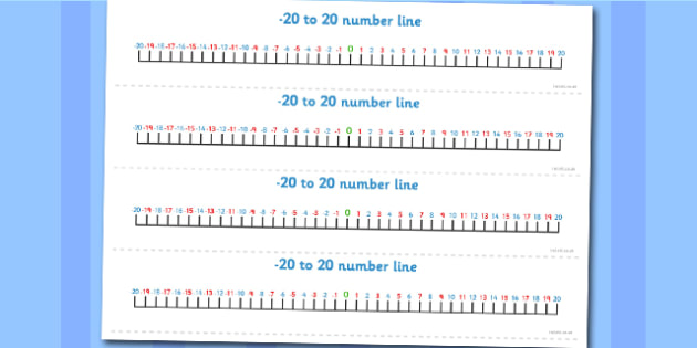Number Line -20 to 20 - number line, -20, 20, numbers, maths