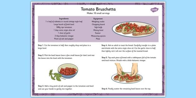 Recipe Tomato Bruschetta - toast, tomatoes, cooking, recipes