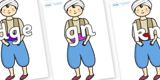 Silent Letters on Aladdin - Silent Letters, silent letter, letter blend, consonant, consonants, digraph, trigraph, A-Z letters, literacy, alphabet, letters, alternative sounds