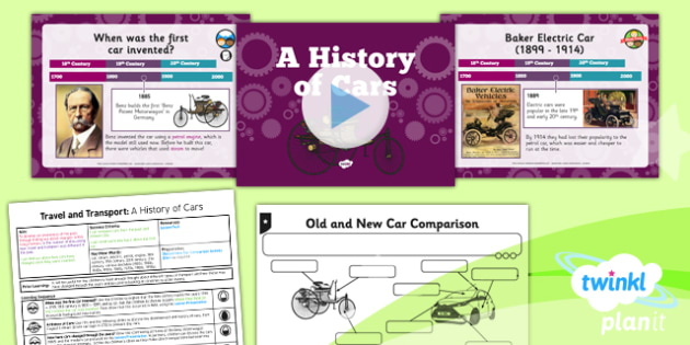History: Travel and Transport: A History of Cars KS1 Lesson Pack 3