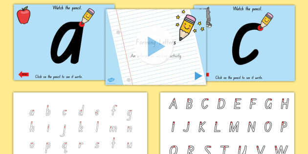Letter Formation Sheet and PowerPoint Pack NSW - australia, letter formation