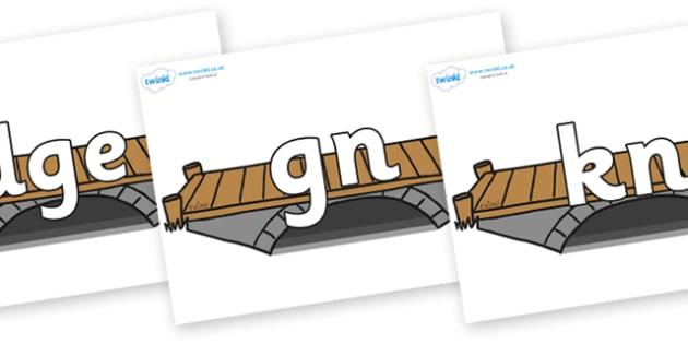 Silent Letters on Bridges - Silent Letters, silent letter, letter blend, consonant, consonants, digraph, trigraph, A-Z letters, literacy, alphabet, letters, alternative sounds