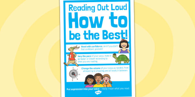 Reading Out Loud Poster A4 - reading, out loud, poster, a4, read