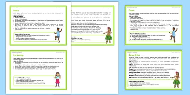 Dance Till You Drop Teacher Support Cards Pack - EYFS, PE, Physical Development, Planning