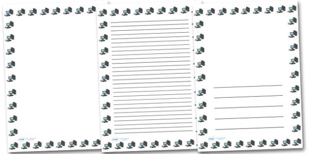 Computer Portrait Page Borders- Portrait Page Borders - Page border, border, writing template, writing aid, writing frame, a4 border, template, templates, landscape