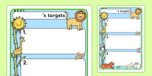Themed Target Sheets Animals - Target Sheets, Themed Target Sheets, Animal Target Sheets, Animal Themed, Animal Themed Target Sheets
