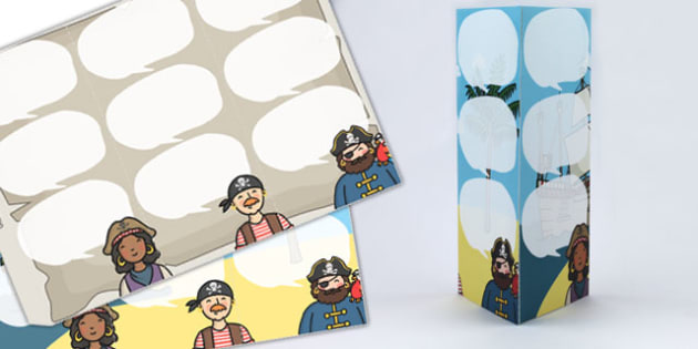 Pirate Themed Standing Tabletop Targets - pirate, targets, table top targets, standing targets, class management, rewards, table targets, class targets