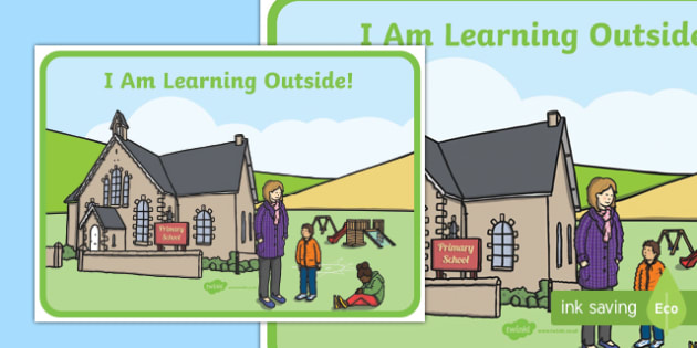 I am Learning Outside Velcro Mat - i am learning, outside, display, sign, poster, velcro, names