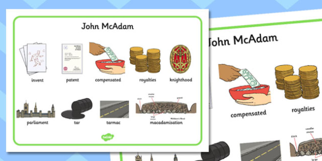 John McAdam Word Mat - john mcadam, word mat, word, mat, science