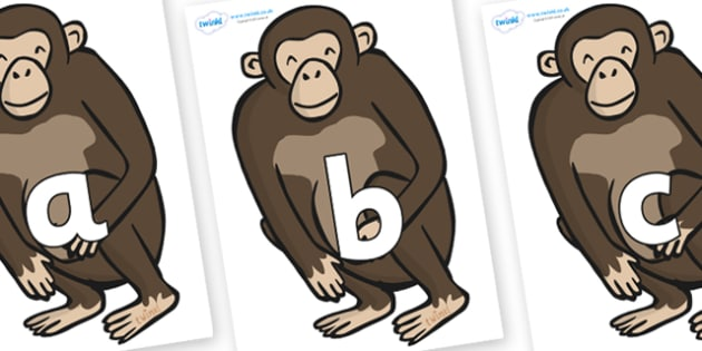 Phoneme Set on Chimps - Phoneme set, phonemes, phoneme, Letters and Sounds, DfES, display, Phase 1, Phase 2, Phase 3, Phase 5, Foundation, Literacy