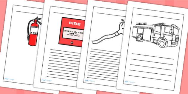 Fire Service Writing Frames - fire service, writing, literacy