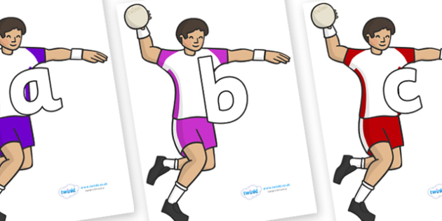 Phoneme Set on Handball - Phoneme set, phonemes, phoneme, Letters and Sounds, DfES, display, Phase 1, Phase 2, Phase 3, Phase 5, Foundation, Literacy