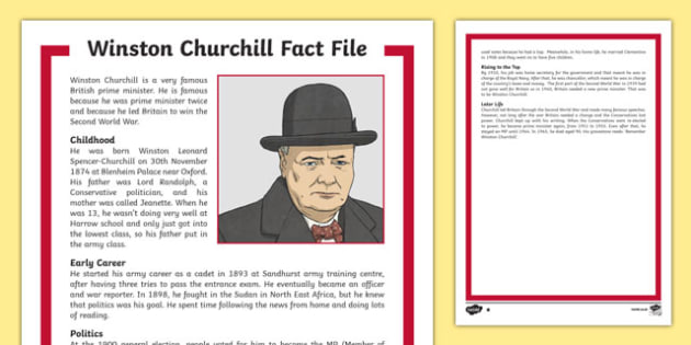 Winston Churchill KS2 Fact File