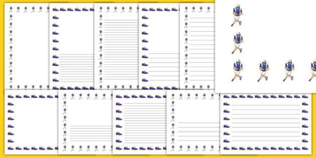 NFL Writing Borders Pack - usa, nfl, writing borders, writing, borders, pack, football, american football