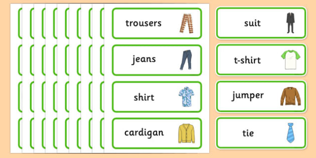 Clothes Shop Word Cards - australia, Clothes shop Role Play, clothes shop resources, shop, till, buy, money, clothes, ourselves, shoes, role play, display, poster, Word cards, Word Card