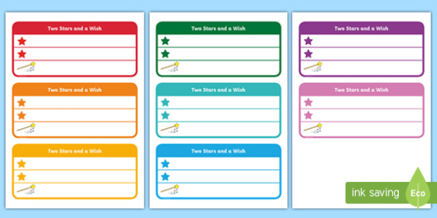 Two Stars And A Wish Resources  Primary Assessment  Page