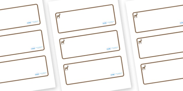 Deer Themed Editable Drawer-Peg-Name Labels (Blank) - Themed Classroom Label Templates, Resource Labels, Name Labels, Editable Labels, Drawer Labels, Coat Peg Labels, Peg Label, KS1 Labels, Foundation Labels, Foundation Stage Labels, Teaching Labels