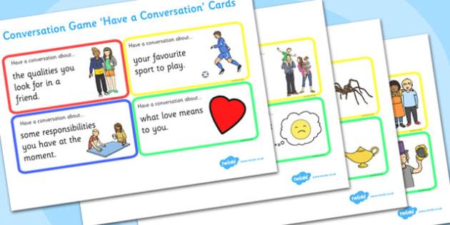 Conversation Game: Have a Conversation Cards - conversation game