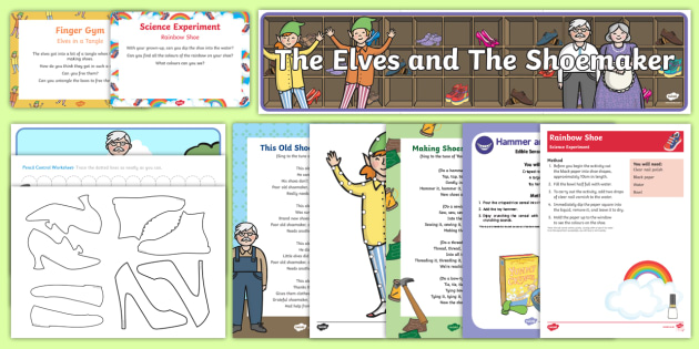 The Elves and the Shoemaker Childminder EYFS Resource Pack - The Elves and the Shoemaker, traditional tales, Christmas, elf, child minding, shoe,
