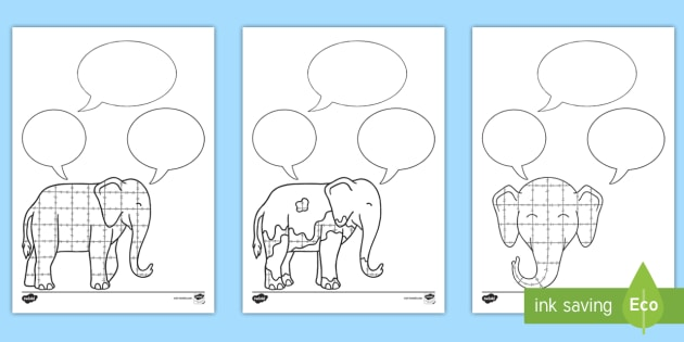 Role on the Wall Worksheet to Support Teaching on Elmer - elmer, role on the wall, worksheets, elmer worksheets, role on the wall worksheets, elmer role on the wall, role play