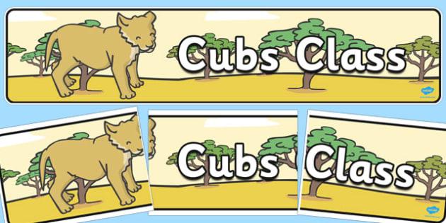 Cubs Class Banner - cubs class, display banner, banner, display, class