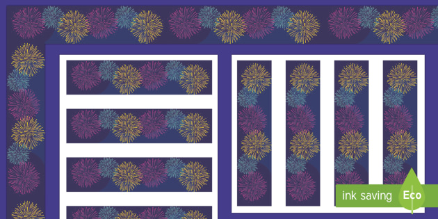 Happy New Year 2017 Display Borders - firework, new year, celebrate, celebration,