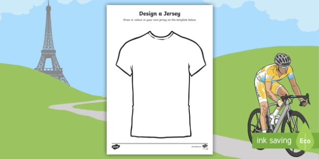 Tour de France Jersey Designing Worksheet - le tour, sports, pe