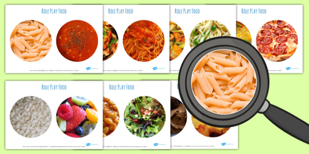 Role Play Food Photo Cut Outs - food, display, roleplay, props