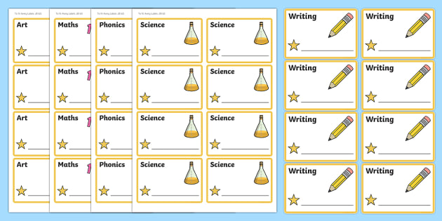 Star Themed Editable Book Labels - Themed Book label, label, subject labels, exercise book, workbook labels, textbook labels