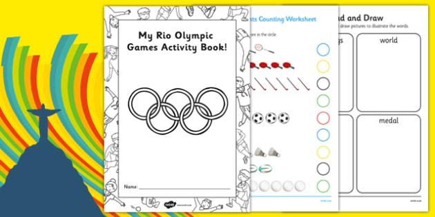 EYFS Rio Olympics Reception FS2 Activity Booklet