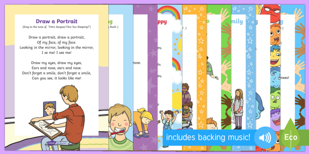 EYFS All About Me / Ourselves Songs and Rhymes Resource Pack