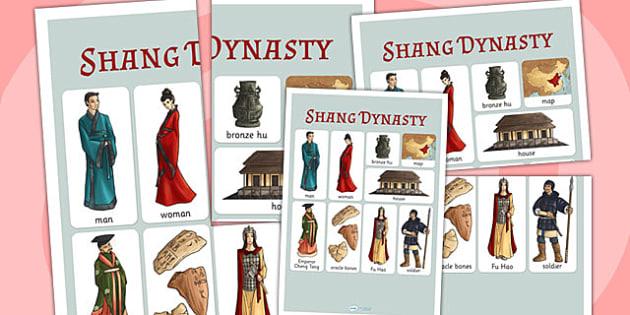 The Shang Dynasty Vocabulary Mat - shang dynasty, china, history