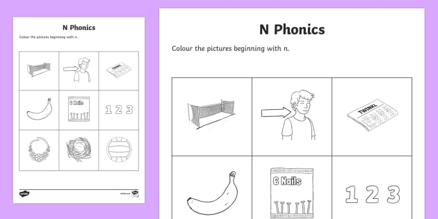 n Phonics Colouring Activity Sheet - Republic of Ireland, Phonics Resources, sounding out, initial sounds, colouring, activity sheet, pho