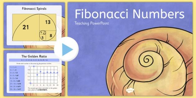 Fibonacci Numbers PowerPoint - fibonacci, numbers, powerpoint, maths